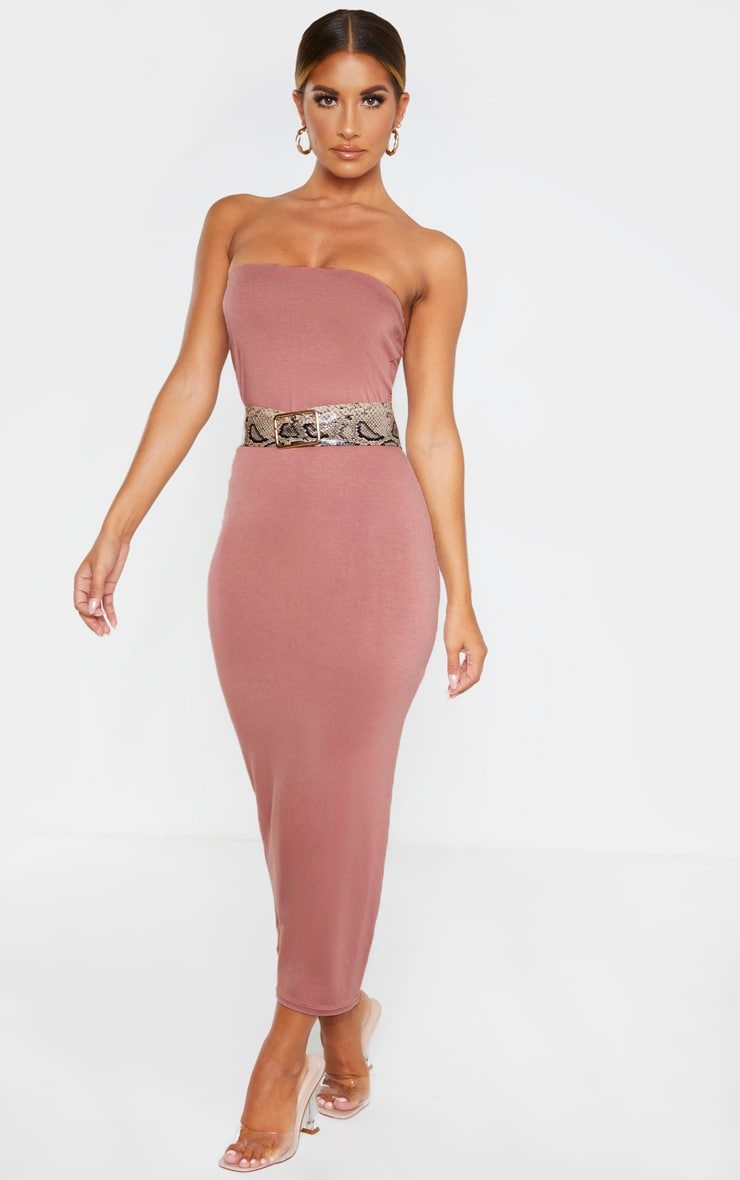 Dusty Rose Bandeau Midaxi Dress 4