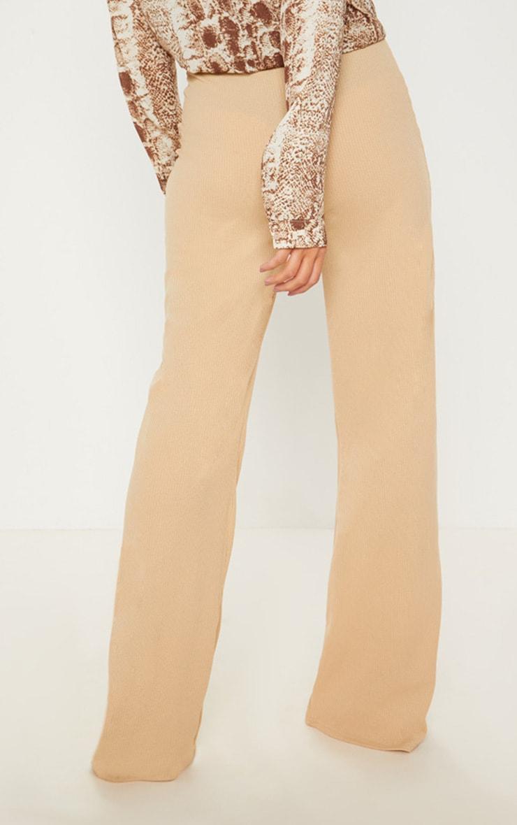Stone Rib Wide Leg Trouser 4