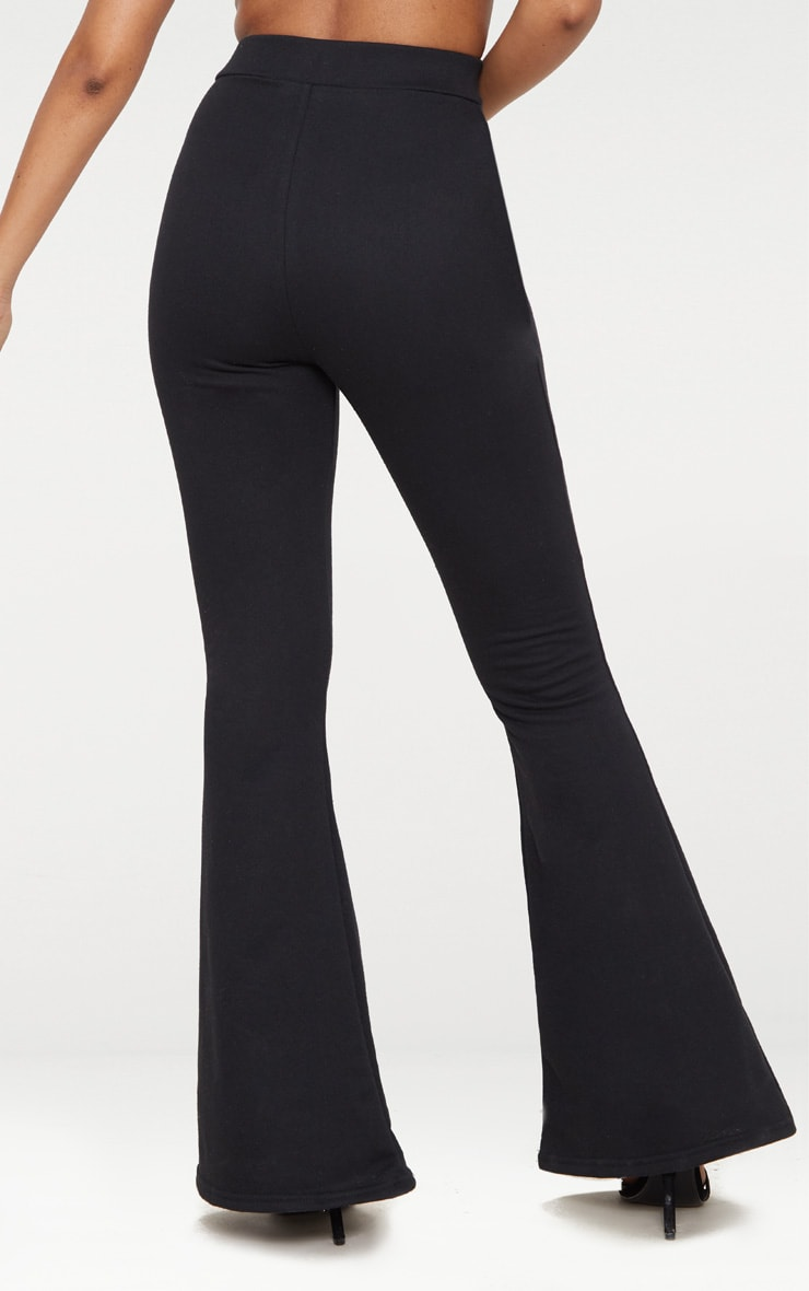 Petite Black  Zip Detail Sweat Flares 4