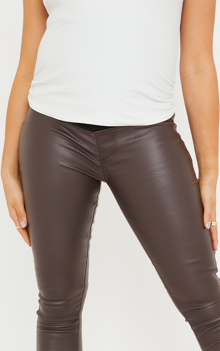 Maternity Chocolate Coated Skinny Jeans 4