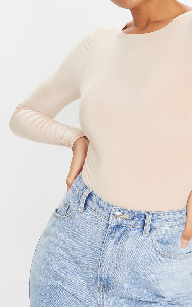 Amiee Slinky Stone Longsleeve Thong Bodysuit 4
