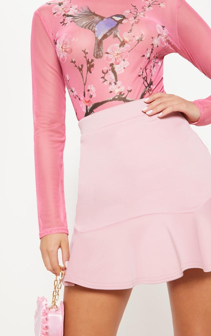 Pastel Pink Flippy Hem Mini Skirt 6