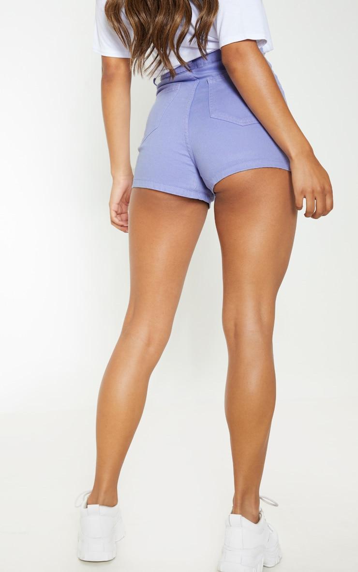 Lilac Disco Fit Denim Shorts 4