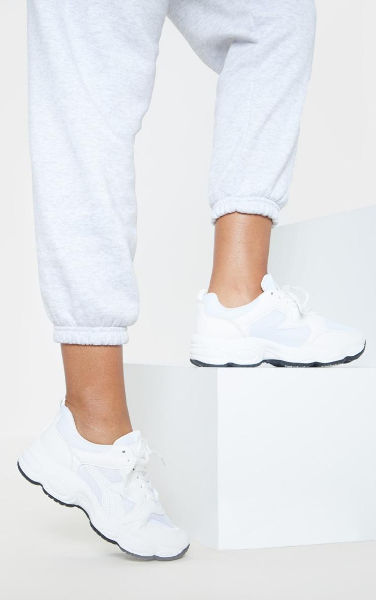 White Basic Chunky Sneakers 1