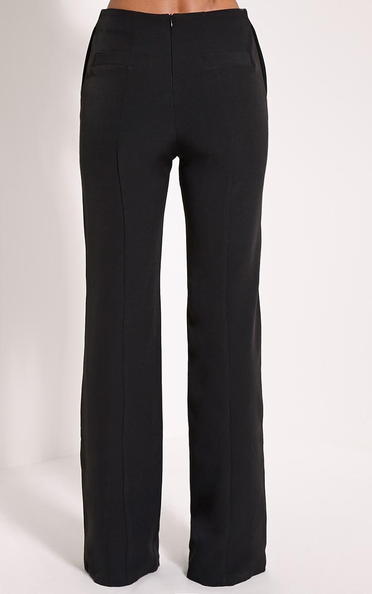 Emmaline Black Flared Trousers 4