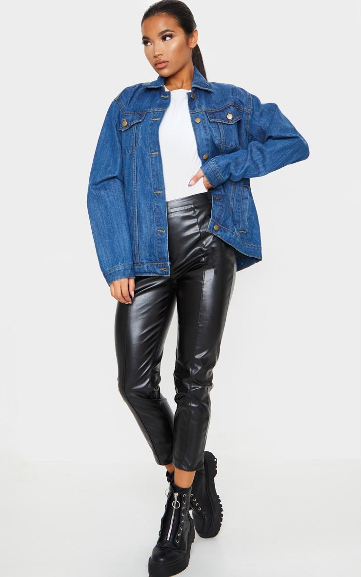 Dark Blue Wash Oversized Boyfriend Denim Jacket 3