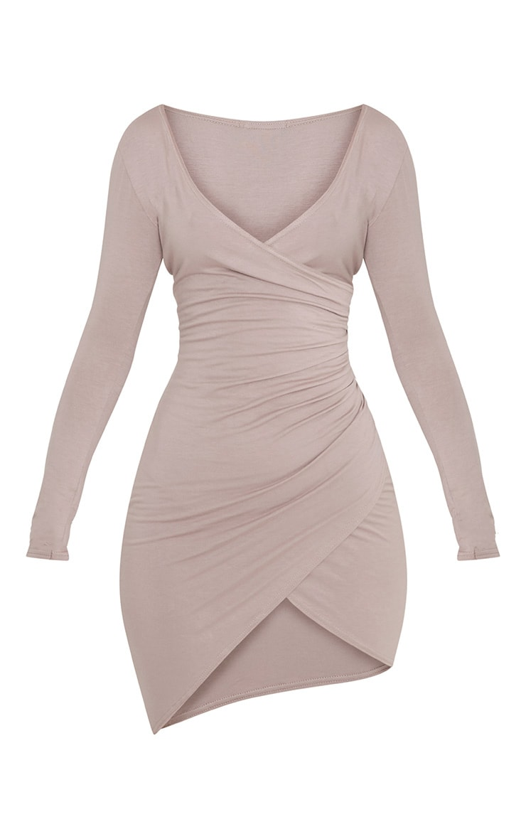 Kendi robe mini cache-cœur taupe 3