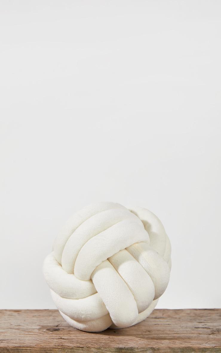 Cream Knot Cushion 3