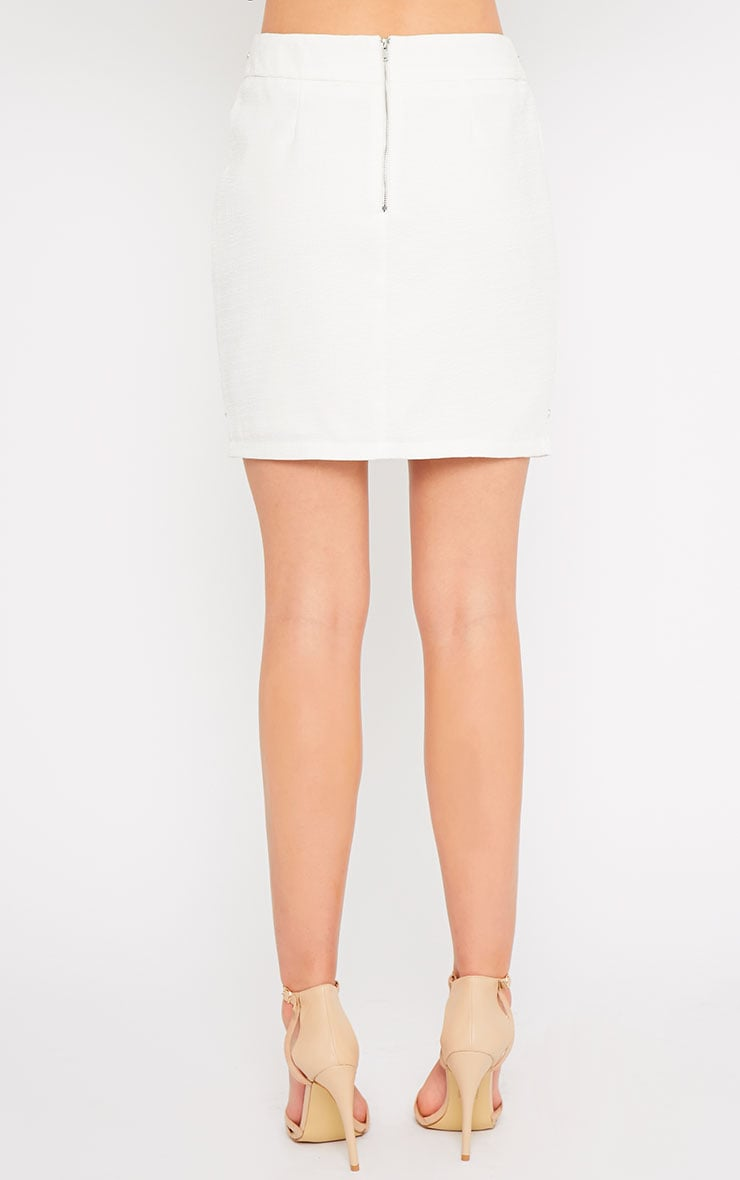 Evelyn White Chain Trim Mini Skirt -XS 2