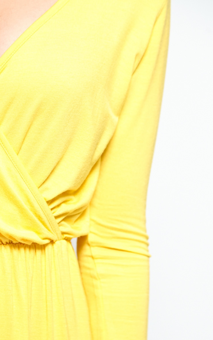 Maddison Yellow Wrap Over Playsuit  5