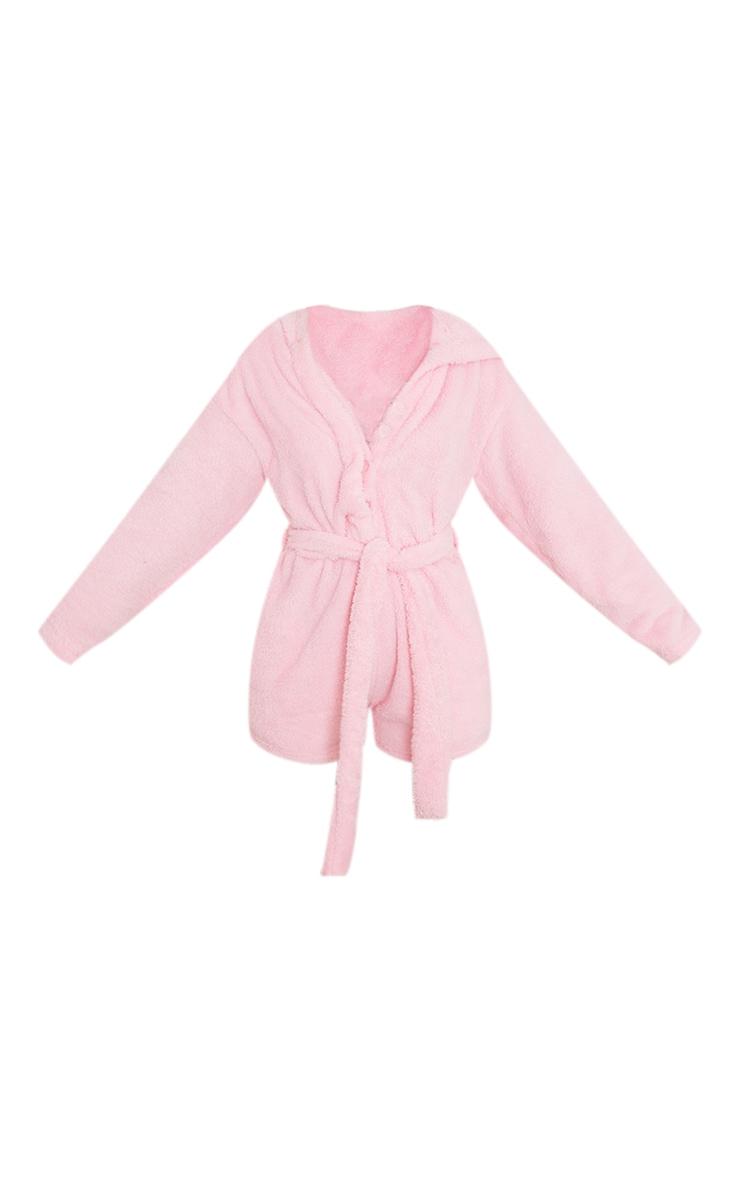Pink Tie Waist Dressing Gown Romper 5