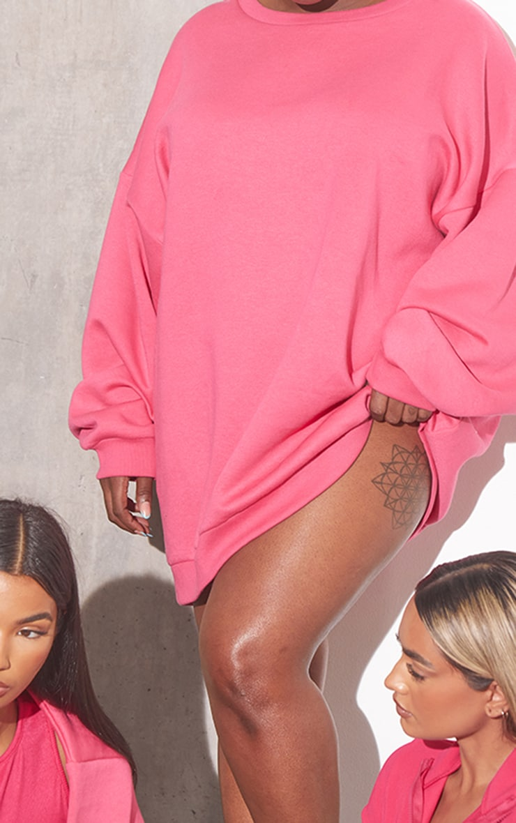 RENEW Plus Pink Oversized Jumper Dress 4