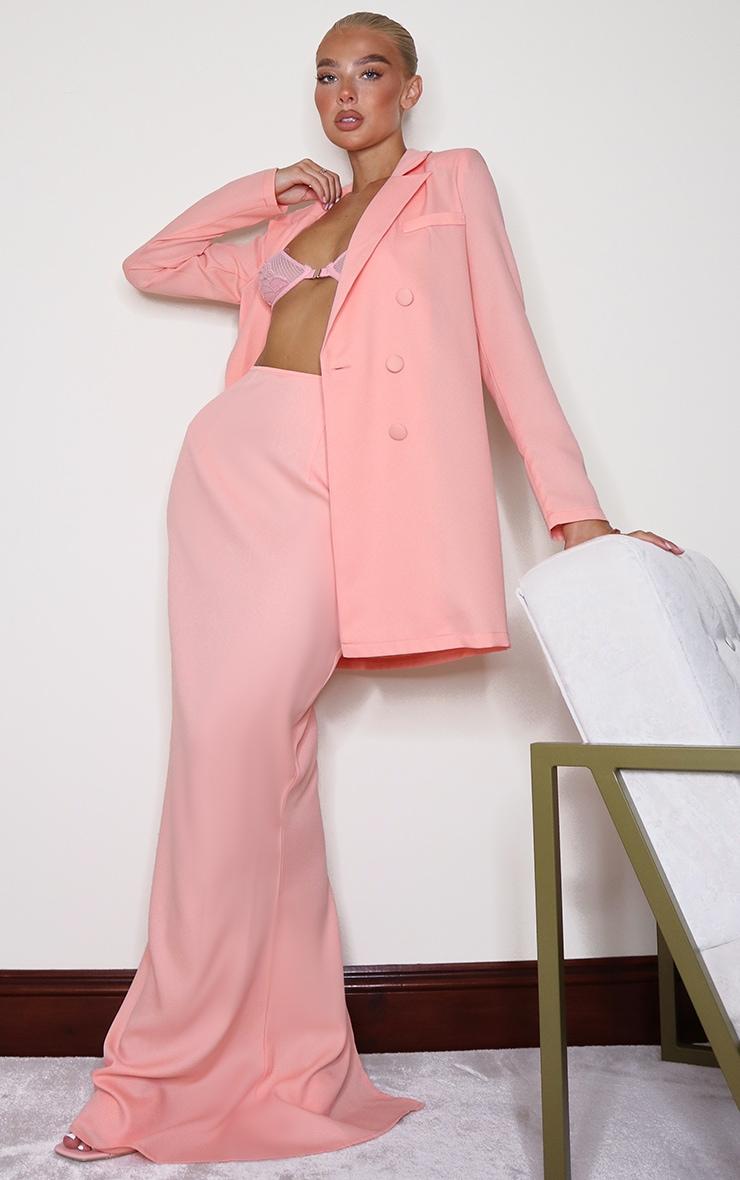Peach Woven Maxi Skirt 1