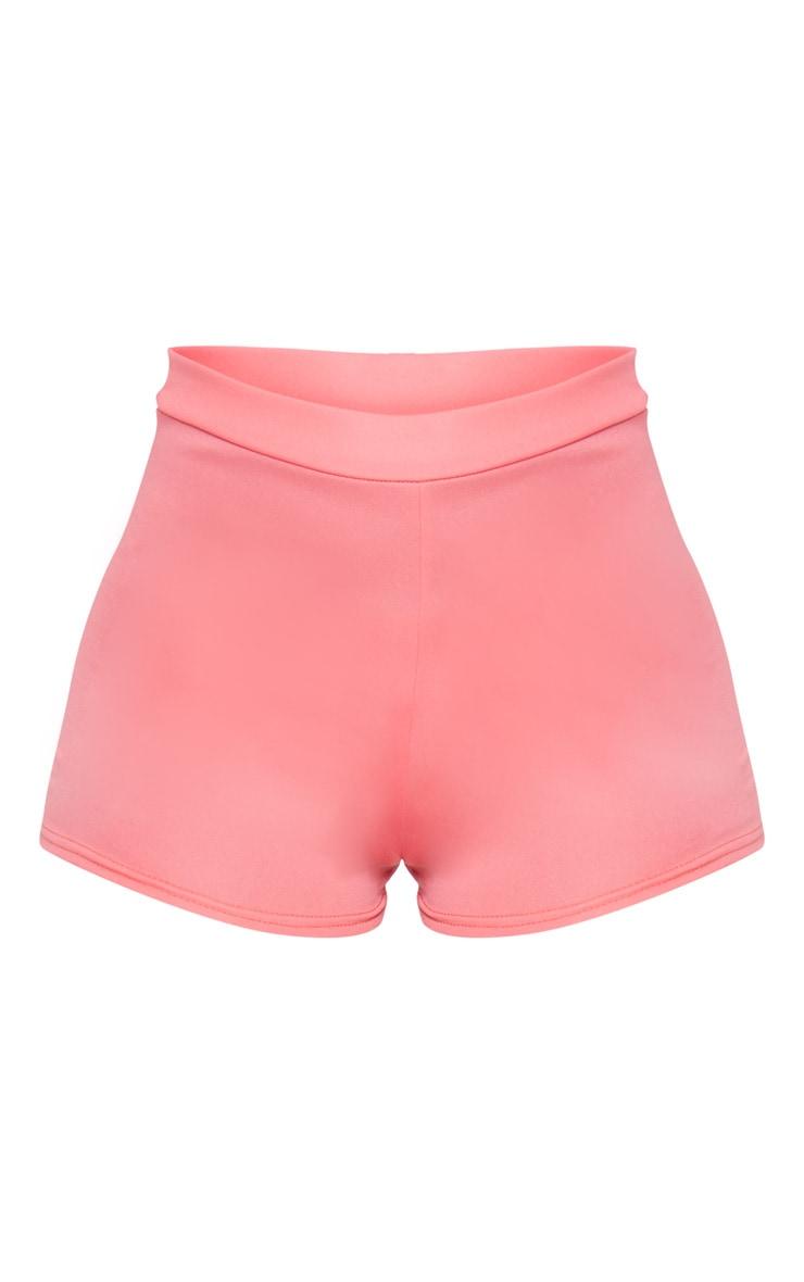Pink Jersey High Waisted Hot Pants 6
