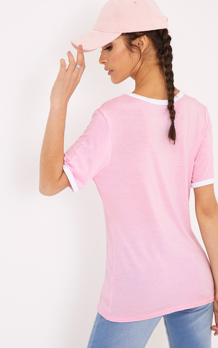 Hang In There Pink Slogan T Shirt 2