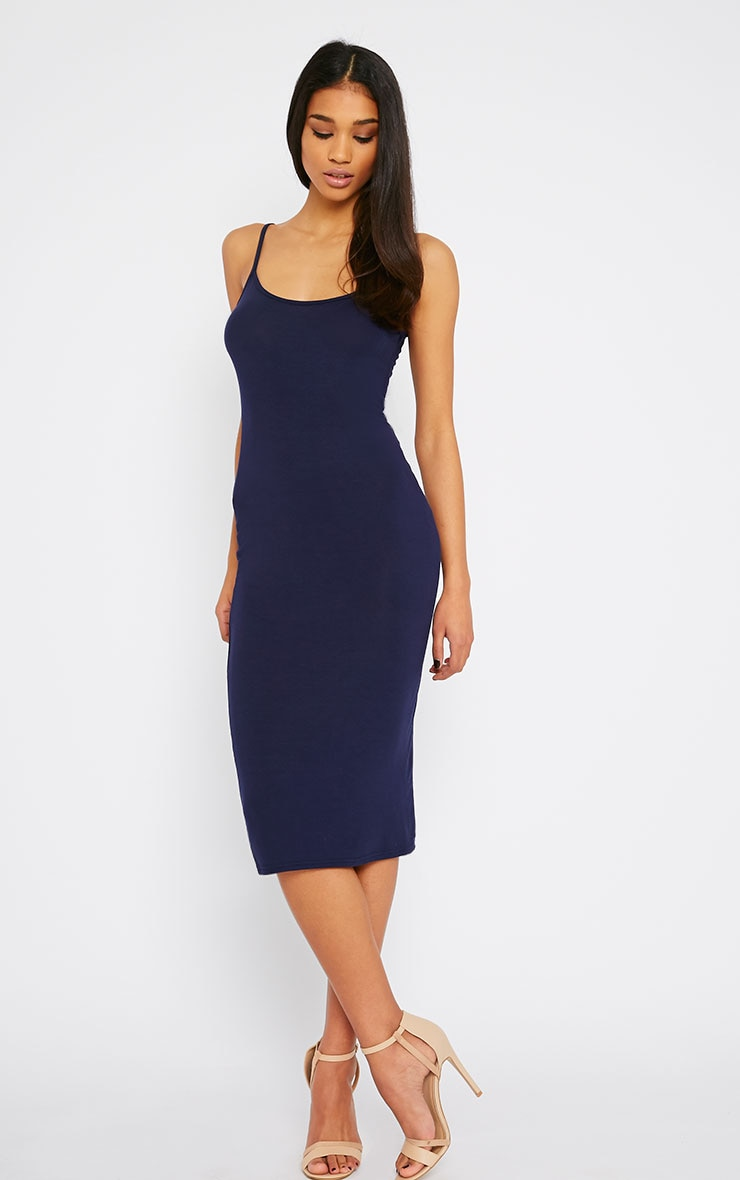 Basic Navy Midi Vest Dress 1