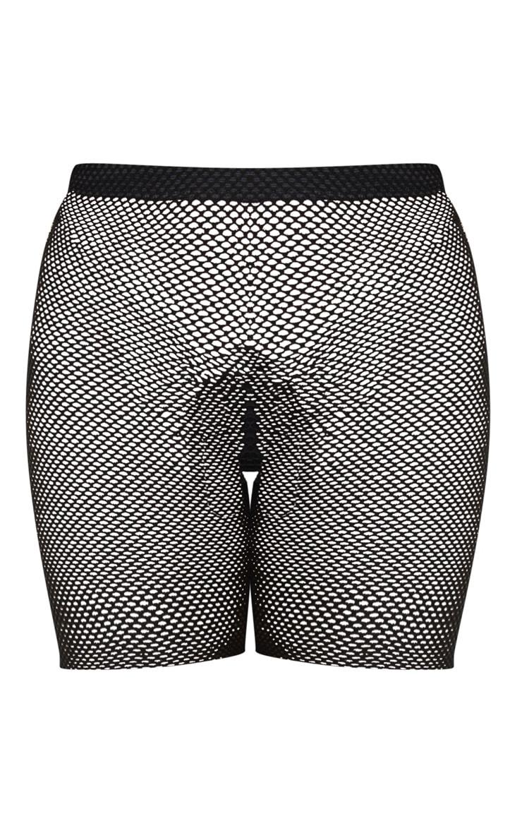 Alcina Black Fishnet Cycle Shorts 6
