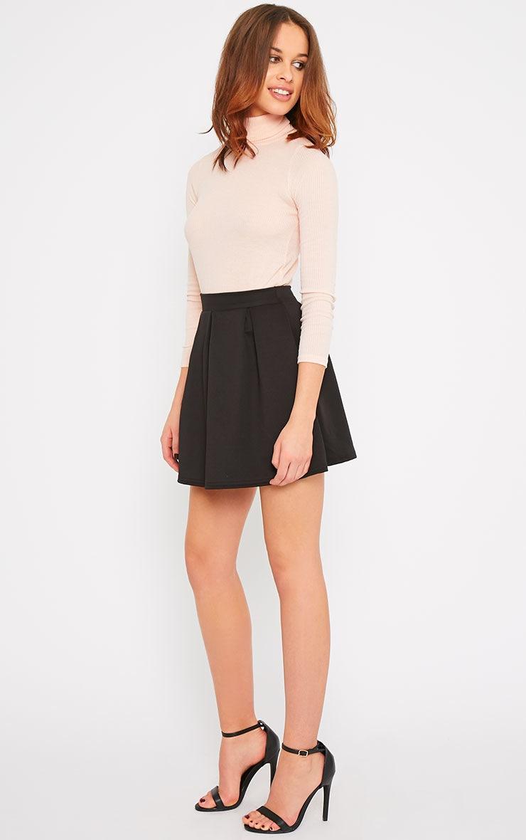 Amie Black Scuba Skater Skirt 5