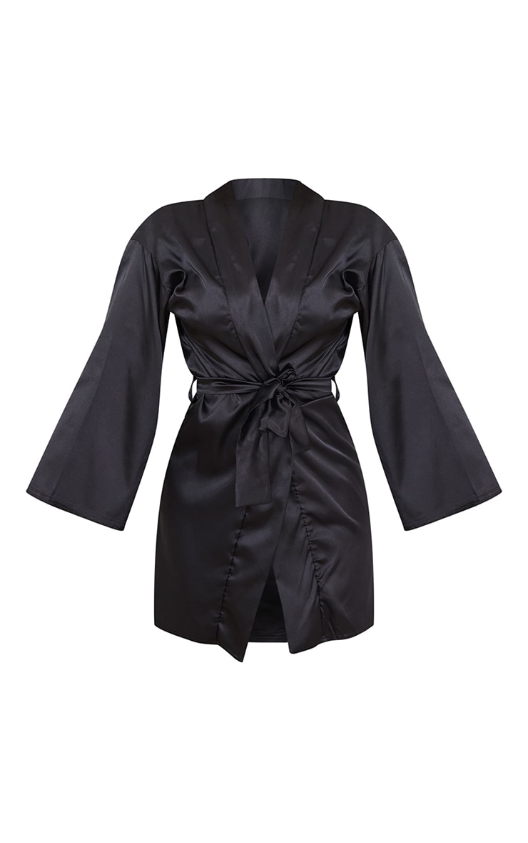 Black Satin Robe 5
