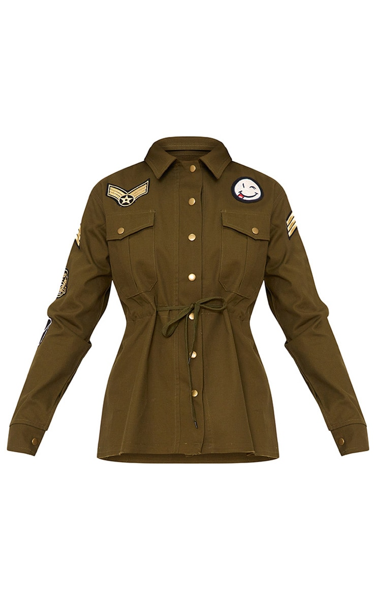 Khaki Badge Detail Utility Jacket 3