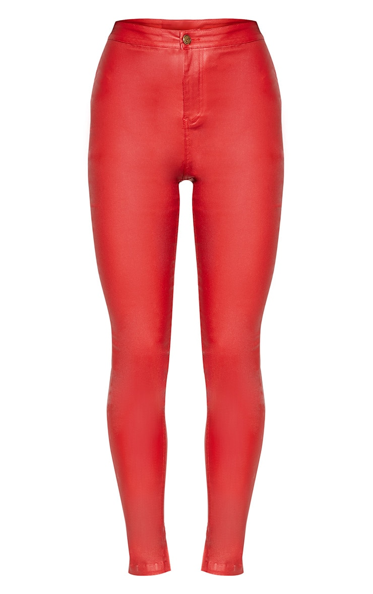 Red Coated Skinny Jean  3