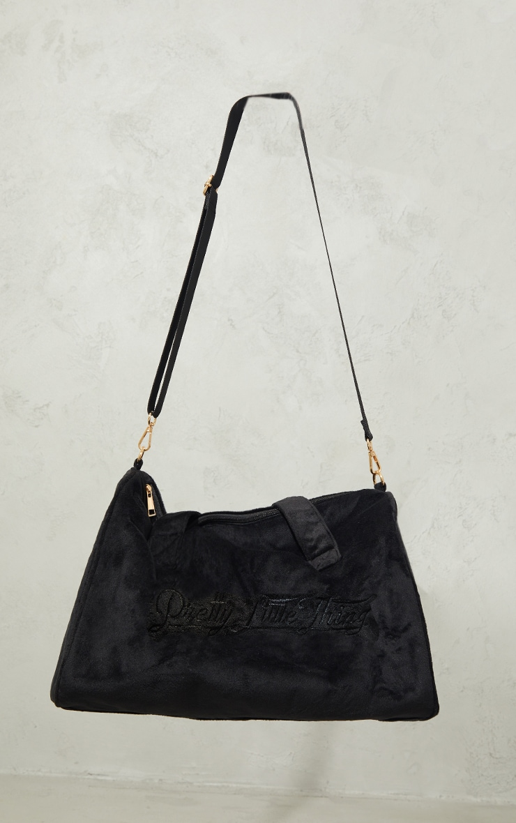 PRETTYLITTLETHING Black Signature Travel Bag image 2