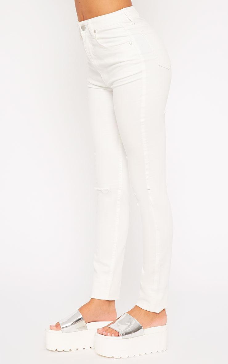 Ariana White Ripped Skinny Jean 3