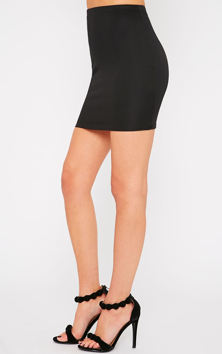 Emilia Black Crepe Mini Skirt 3