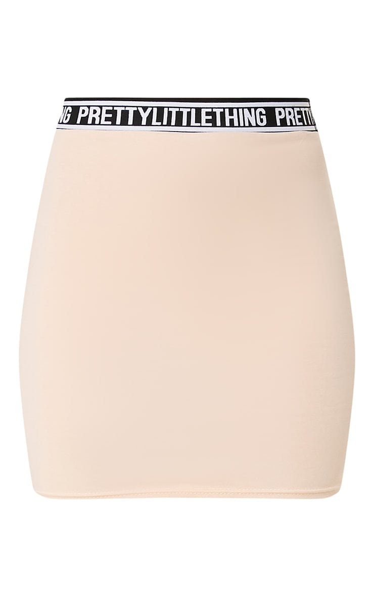 PRETTYLITTLETHING Nude Mini Skirt 3