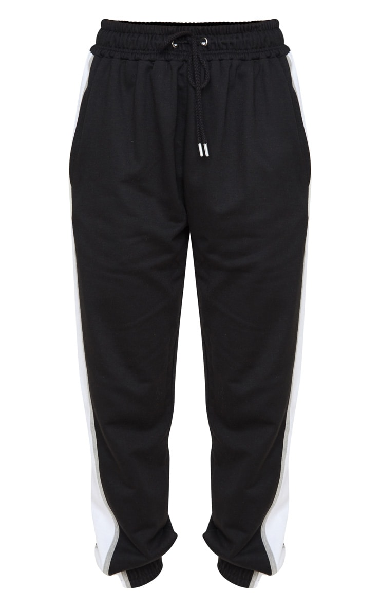 Black Multi Side Stripe Joggers 3