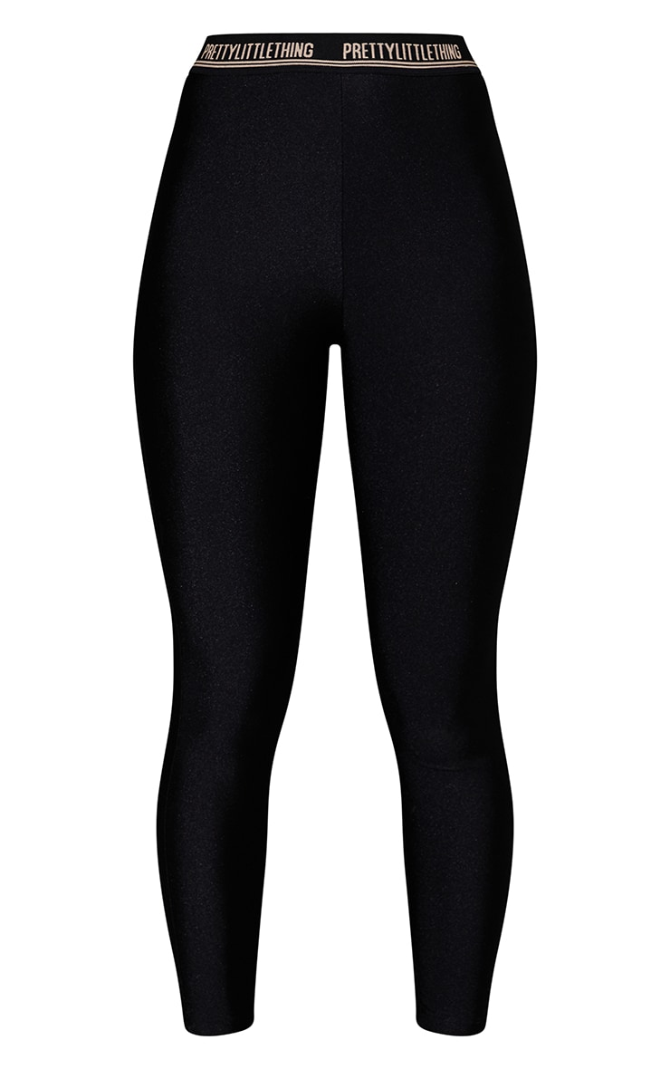 PRETTYLITTLETHING Black Gym Legging 5
