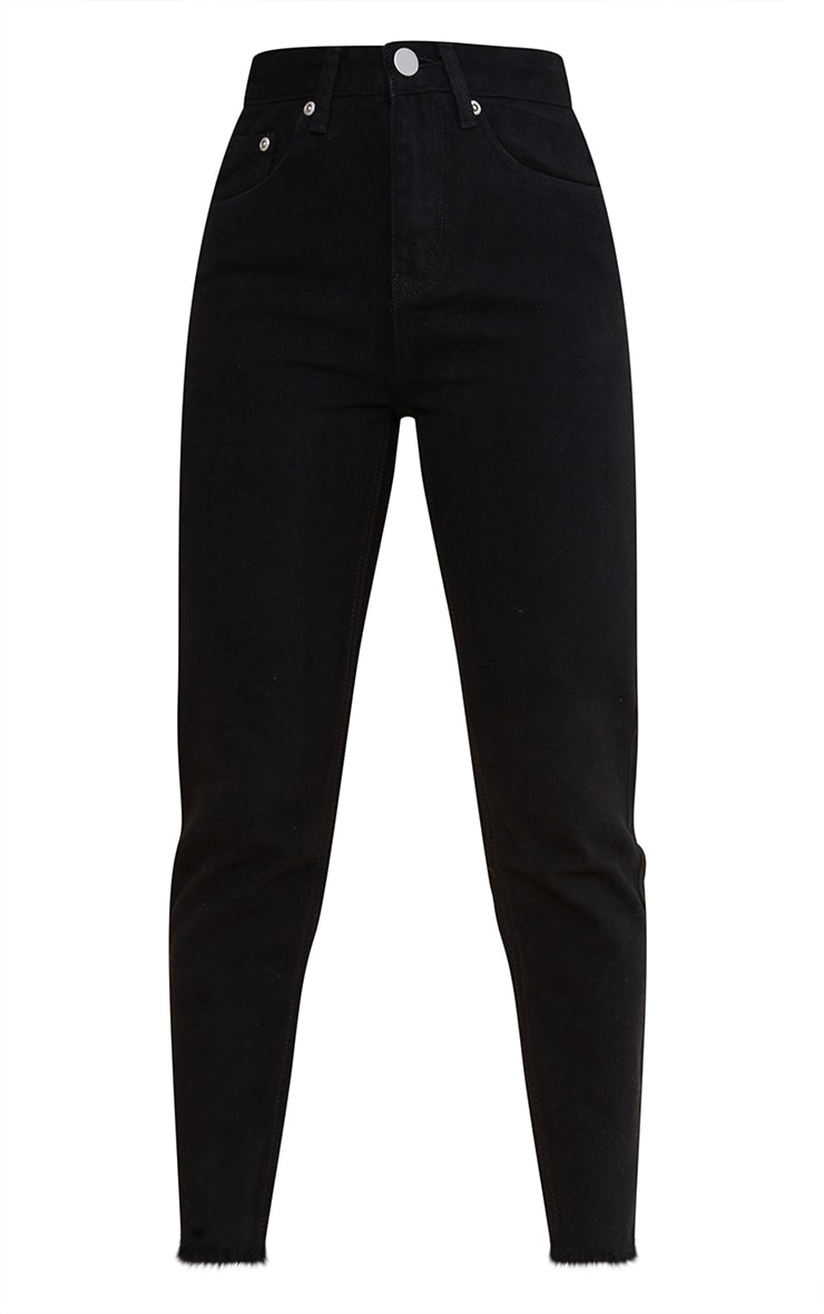 Petite Black Denim Straight Leg Jeans 5