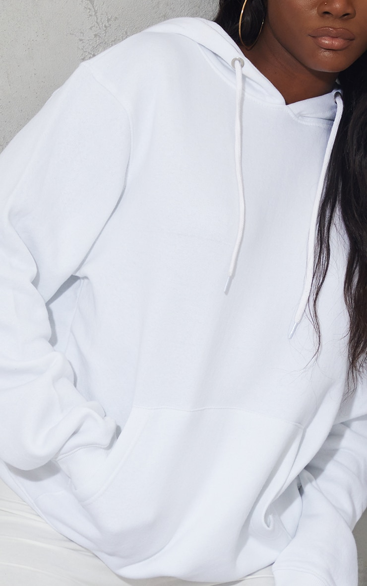 Tall - Hoodie oversize blanc classique 4