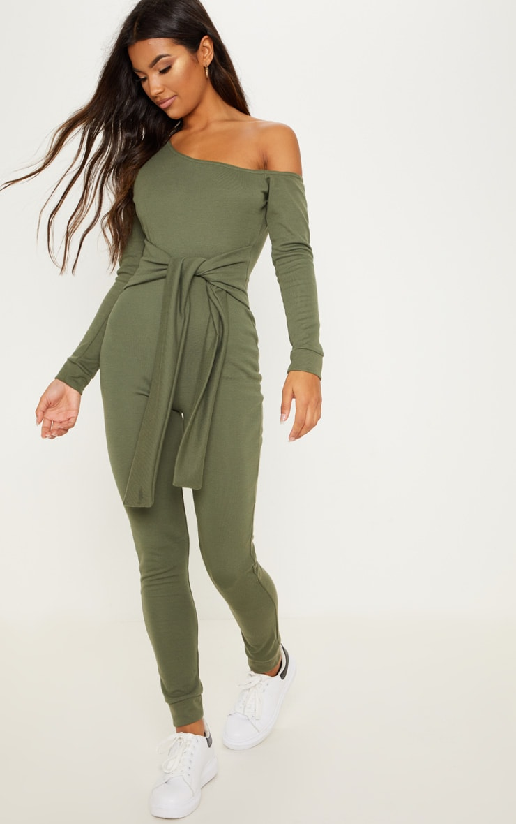 Khaki Sweat Jumpsuit 4