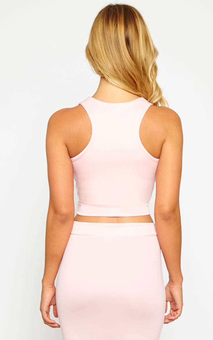 Janine Pink Sleeveless Crop Top 2