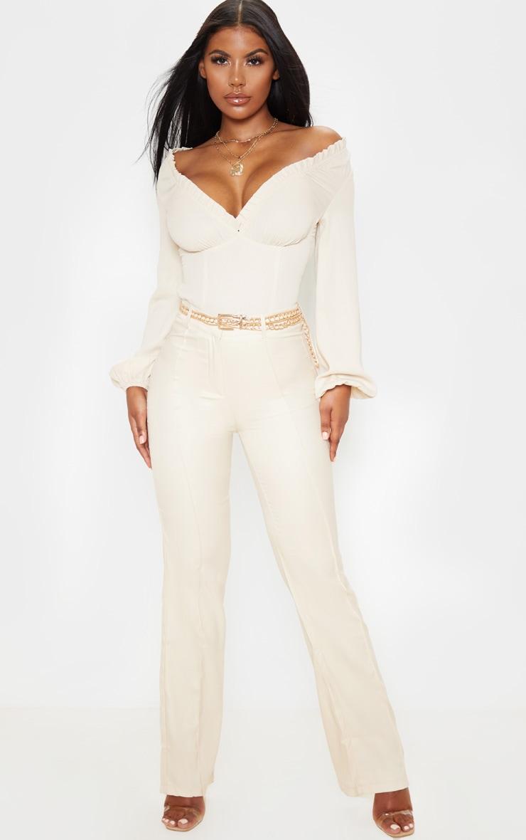 Cream Milkmaid Frill Cup Bodysuit 4