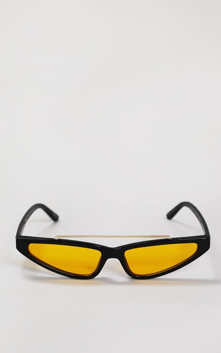 Black Cat Eye Yellow Lens Sunglasses 1
