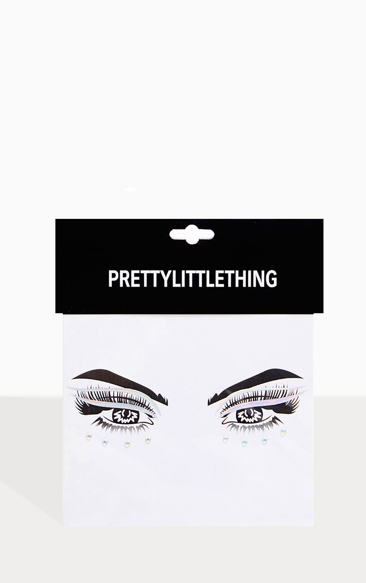 PRETTYLITTLETHING Feline Princess Holographic Liner Face Sticker 2