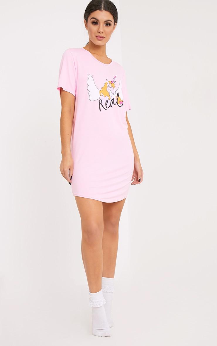 Thea Pale Pink Unicorn Nightie 4