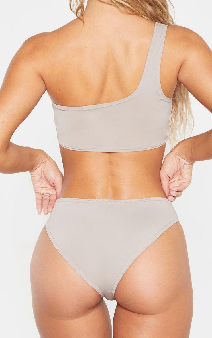 Grey Full Coverage Bikini Bottom 5