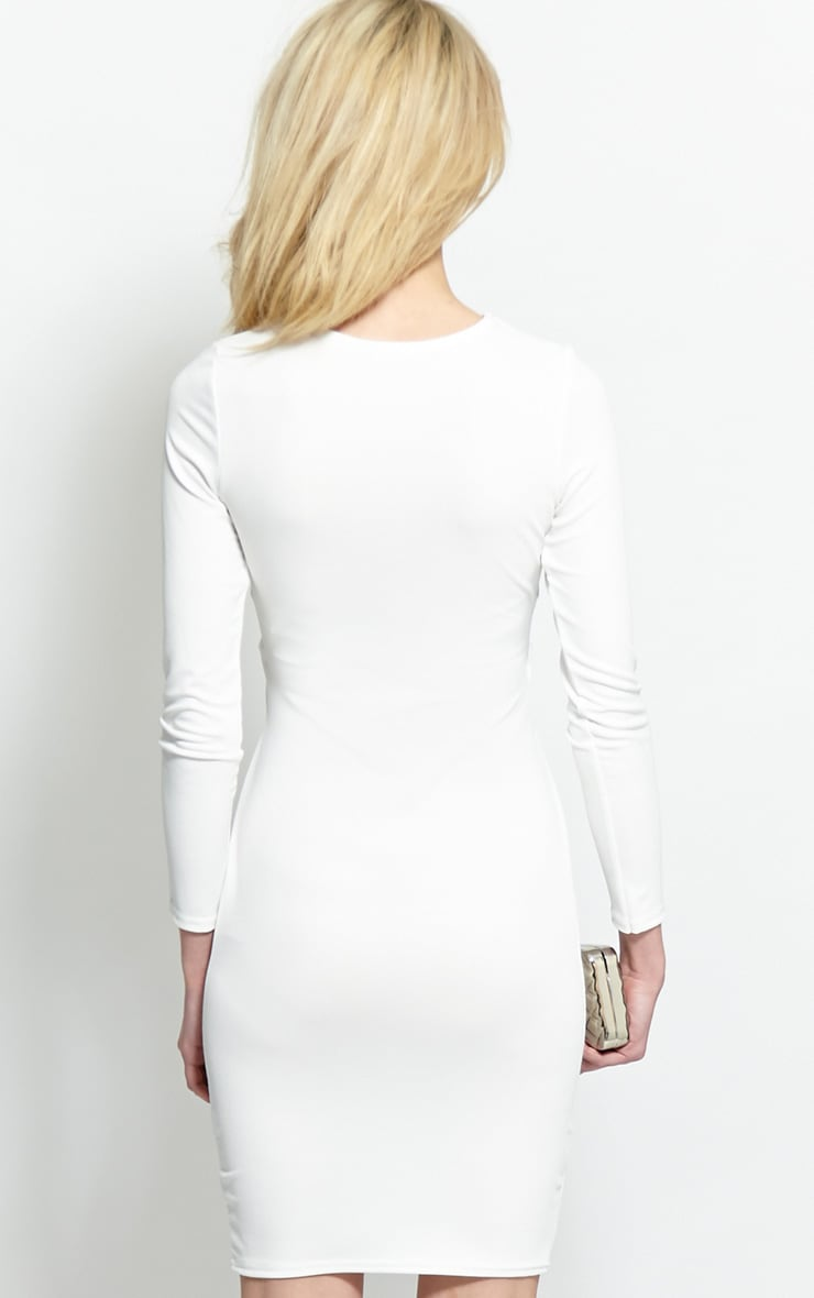 Diana White Cut-Out Bodycon Midi Dress 2