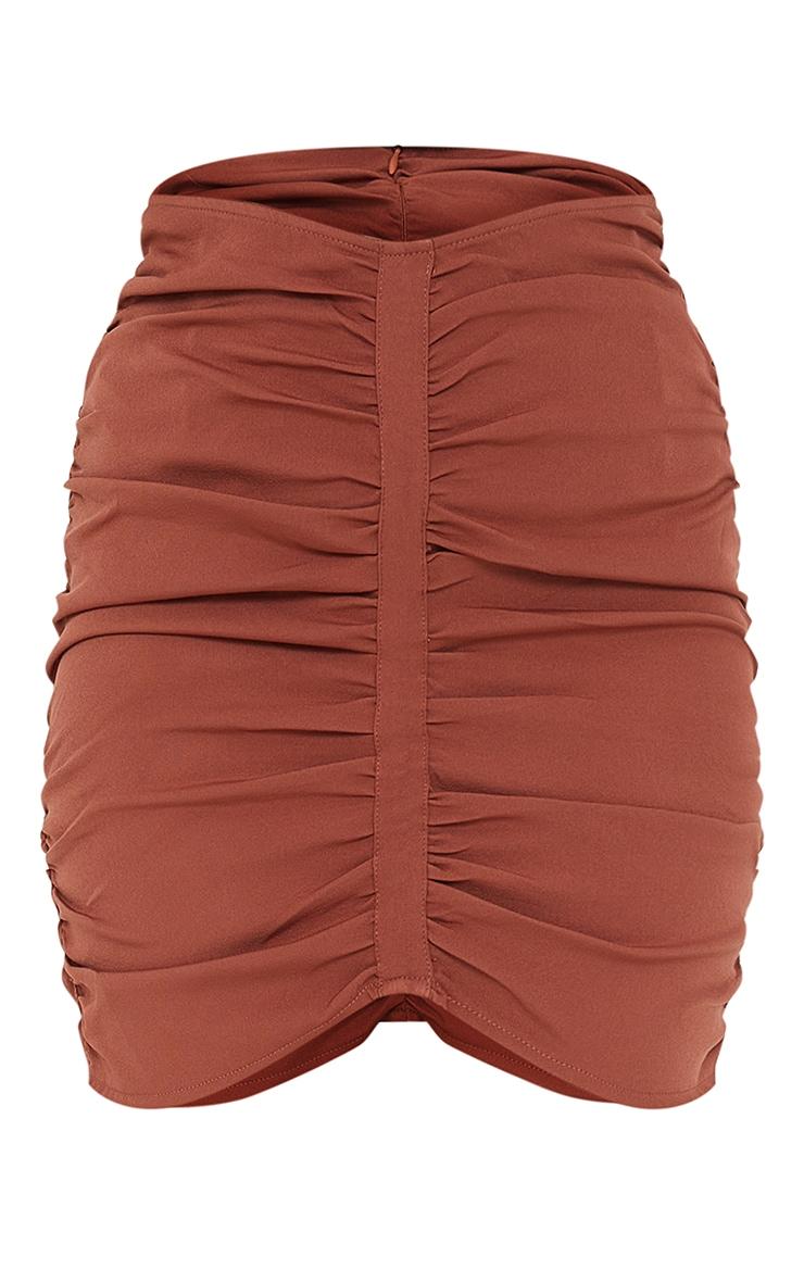 Petite Rust Dip Waist Mini Skirt 6