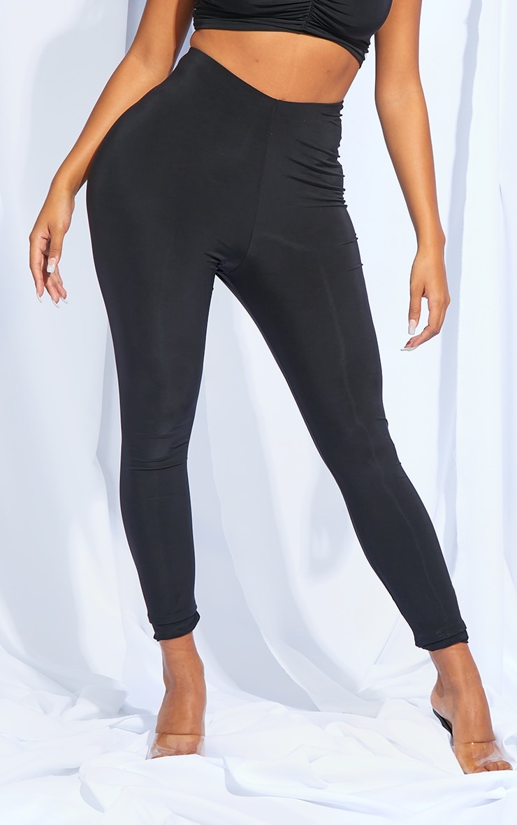 Shape Black Slinky Ruched Bum Leggings 2