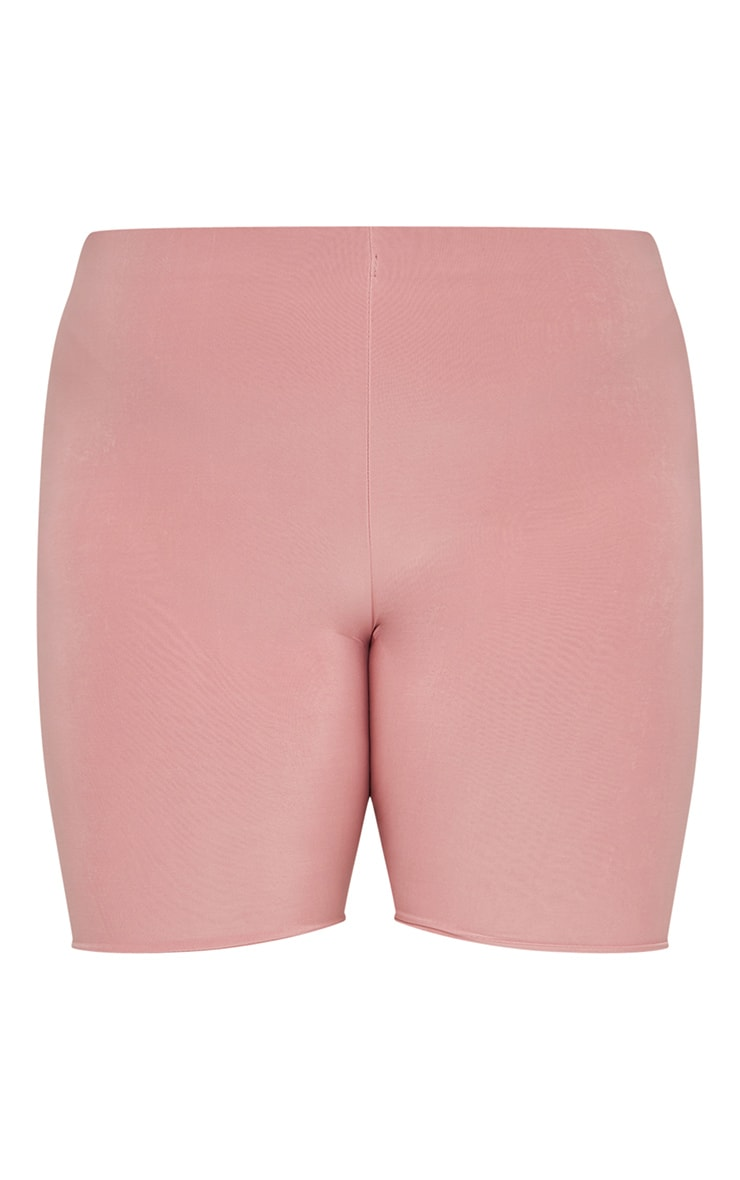 Plus Dusty Rose Slinky High Waisted Bike Shorts 6