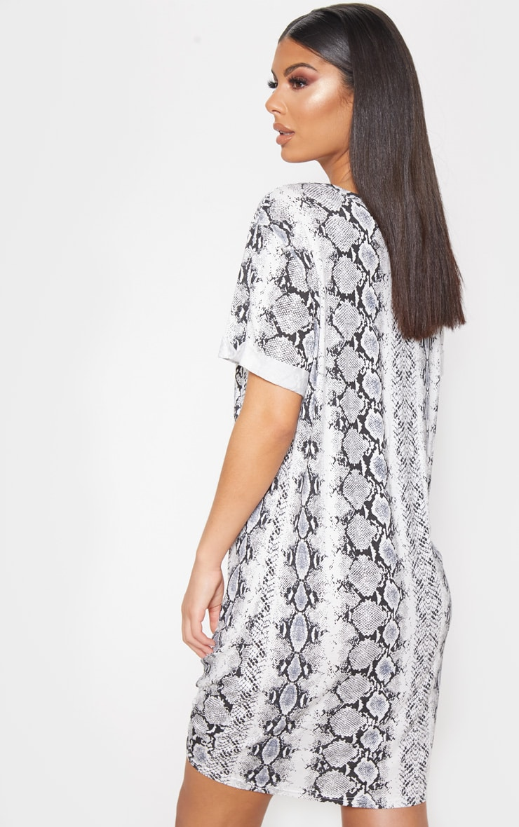 Grey Knot Detail T Shirt Dress 2