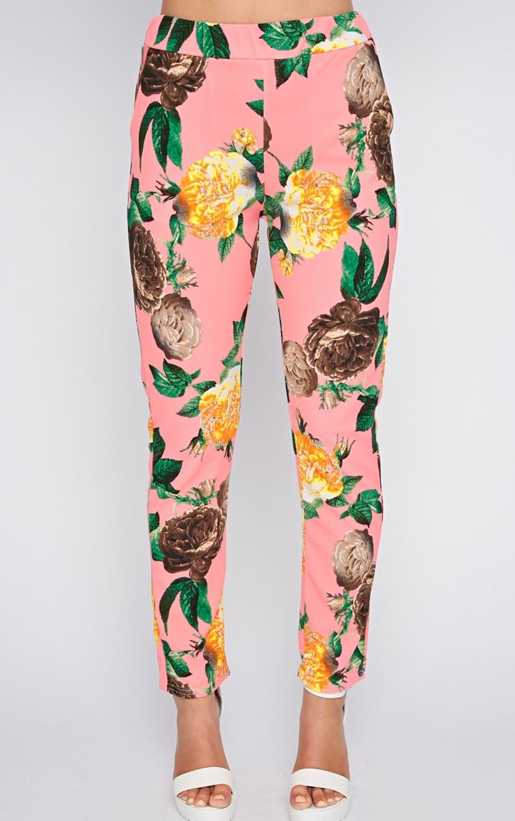 Kiera Pink Floral Print Trouser  4
