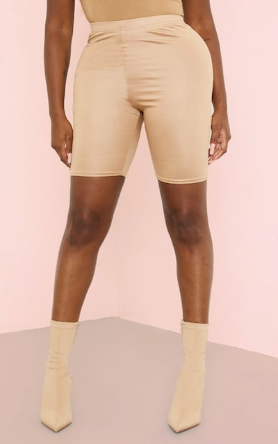 Camel Coated Cycle Short