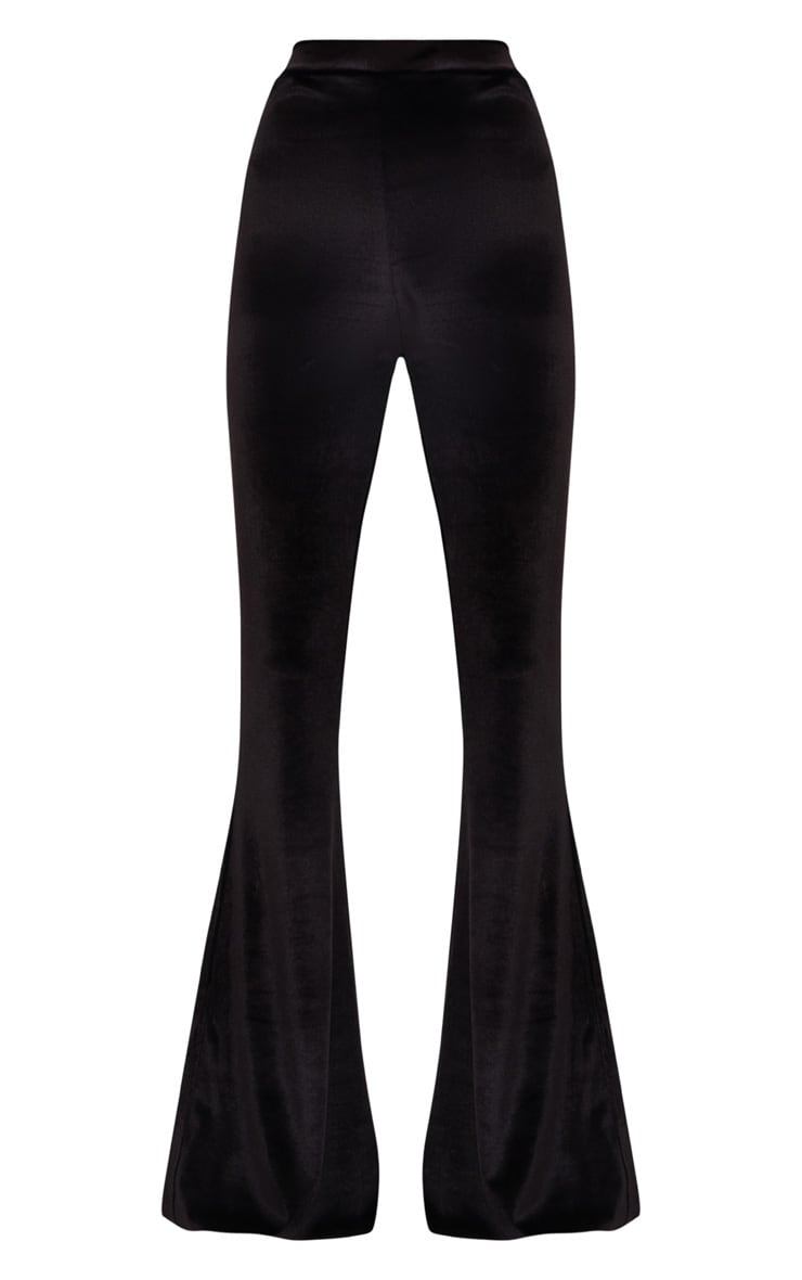Black Velvet Flared Pants 3