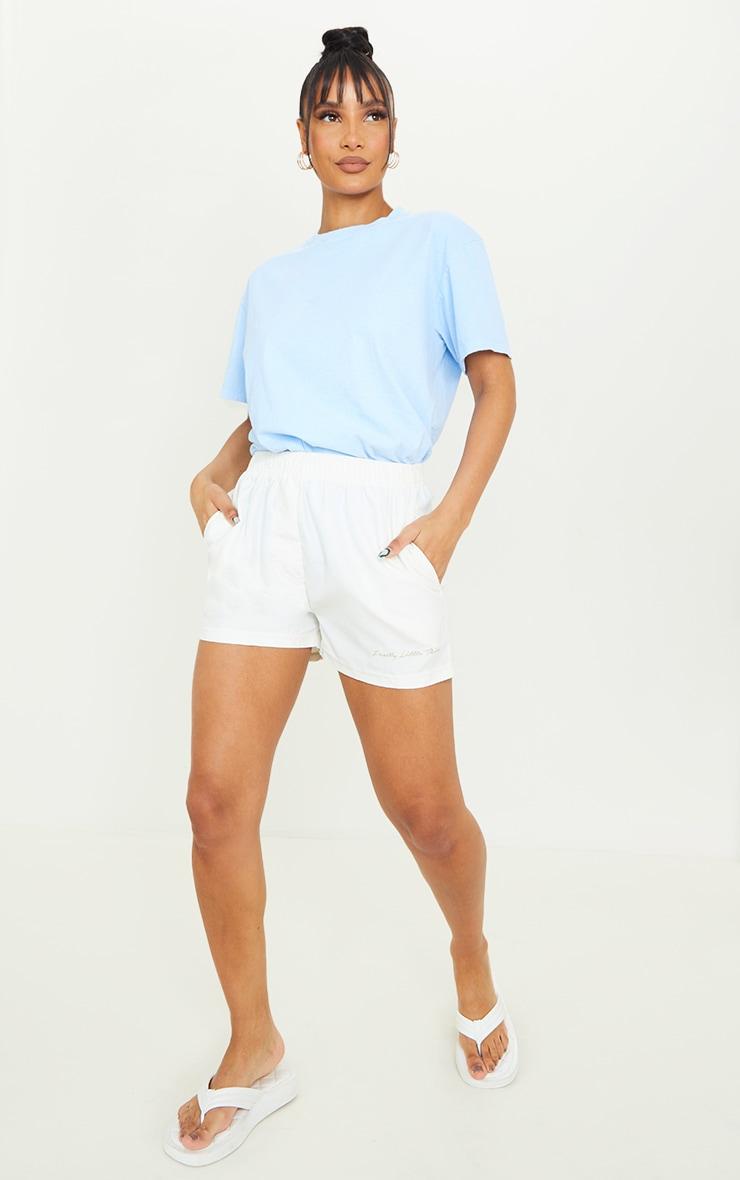 Blue Los Angeles California Back Print Short Sleeve Washed T Shirt 3