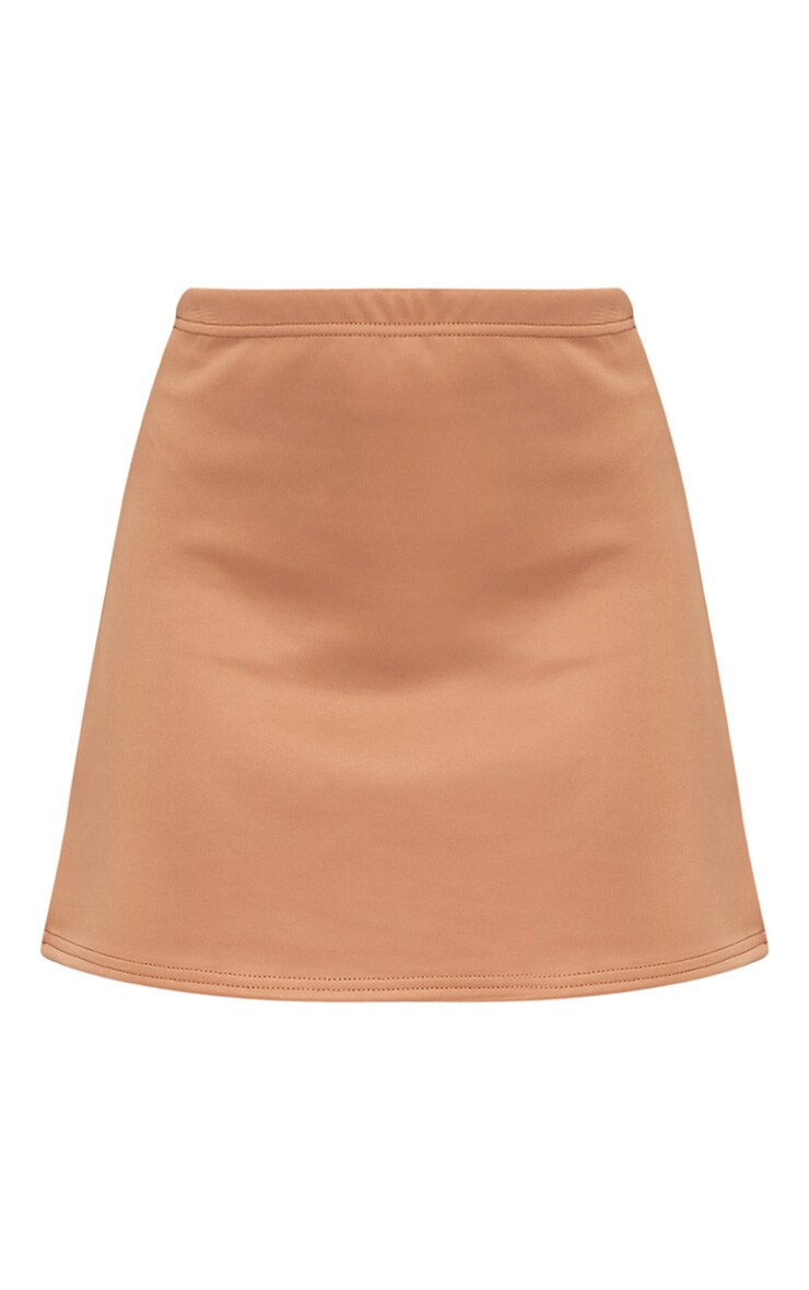 Jessica Camel A-Line Mini Skirt 3